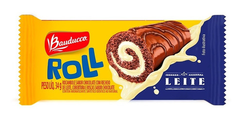 Bolinho Roll Sabor Leite Bauducco 34g