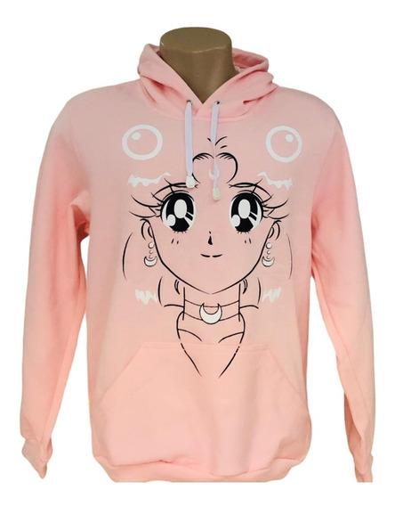 Moletom Sailor Moon - Blusa De Frio Canguru Com Capuz -