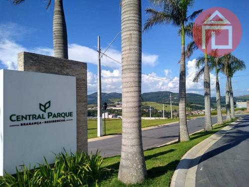 Terreno À Venda, 328 M² Por R$ 190.000,00 - Residencial Central Parque - Bragança Paulista/sp - Te1328