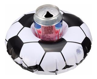 Kit 10 Boias Porta Copos Bolas De Futebol Flutuador