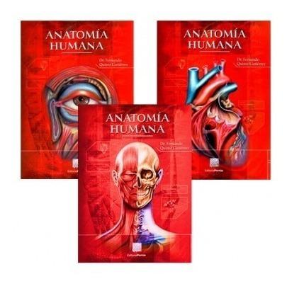 Imagen 1 de 4 de Quiroz-anatomía Humana 3 Volúmenes Impreso