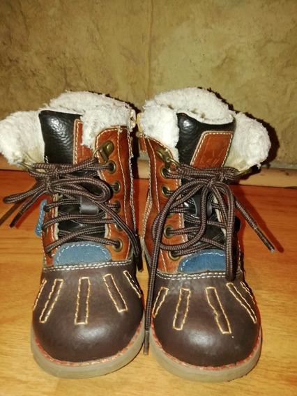 Zapatos Tipo Botin De Cuero - Conversable