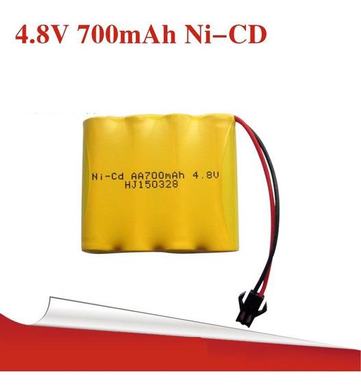 Bateria 4,8v Aa 700mbateria Carrinho 4,8v Aa Ni-cd 7ah Ni-cd