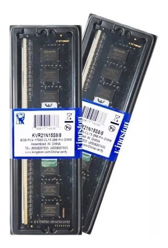 Memória Kingston Ddr4 8gb 2133 Mhz Desktop Kit C/10 Unidades