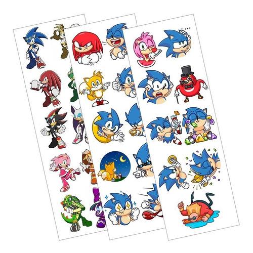 Plancha De Stickers De Videojuegos De Sonic The Hedgehog