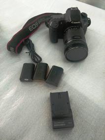 Câmera Canon 60d Lente Filtro Bateria Original 13k Cliks