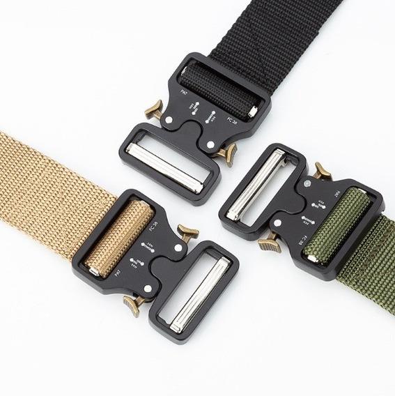 Cinturón Táctico Militar Hebilla Metal Nuevo Modelo + Regalo