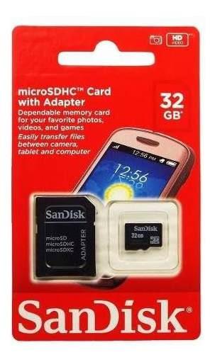 Cartão De Memória Micro 32gb Sandisk 100% Original C/ Nf