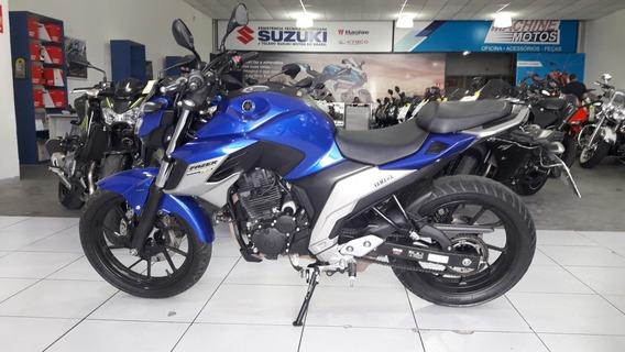 Yamaha Fazer 250 Abs 2018 Azul - Toda Original