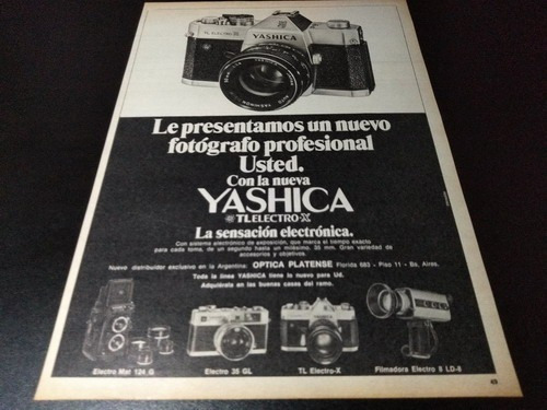 (pb437) Publicidad Clipping Camara Fotografica Yashica