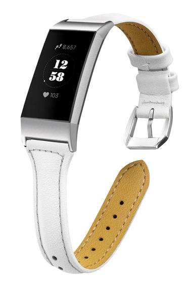 Pulseira De Relógio De Couro Para Fitbit Charge 3