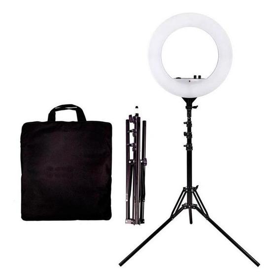Ring Ligth Iluminador Para Fotos Vídeos 45cm Bi-volt Tripe