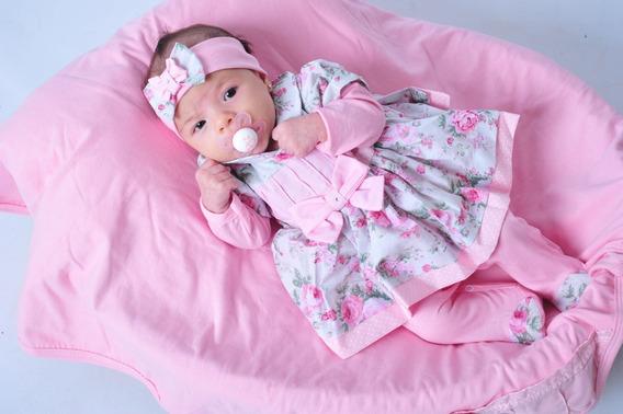 Saida Maternidade Menina Floral Rosa