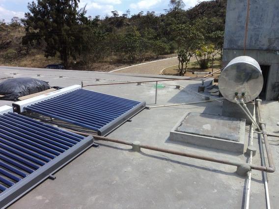 Coletor Solar 20 Tubos Vacuo Produz 300 Litros Agua Quente