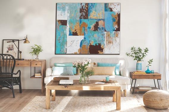 Pintura Abstracta Acrílica Sobre Lienzo 120x100