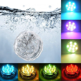 Luz Led Sumergible Control Remoto 16 Colores Peceras Piscina