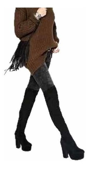 Bota Bucanera Platforma Dama Bota Alta Sexy Mujer