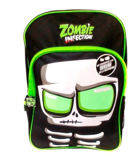 Zombie Infection Mochila Espalda Escolar 17 Brilla Negro