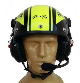 Capacete Com Fonia, Paramotor, Trike, Ultraleve,