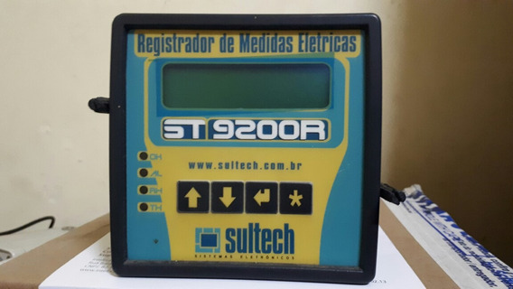 Medidor Registrador Elétrico Trifásico Sultech St9200r