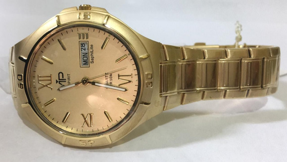 Relógio Vip Mh-238 Dourado Original Novo Nota Fiscal