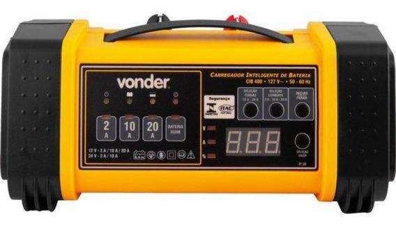 Carregador De Bateria 12/24v Inteligente 110v Cib400 Vonder