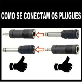 Adapatador Plugue P10 Para P2 E De P2 Para P10 2 Adaptadores