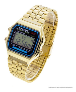 Reloj Kosiuko Hombre 7840 222 Wr30 Digital Vintage Metal