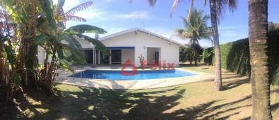 Casa Com 4 Dormitórios À Venda, 530 M² - Condomínio Vale Do Sol - Tremembé/sp - Ca0436