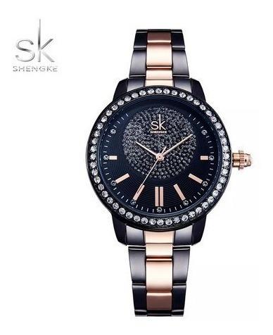 Relógio Shengke Feminino Original Luxo Com Caixa