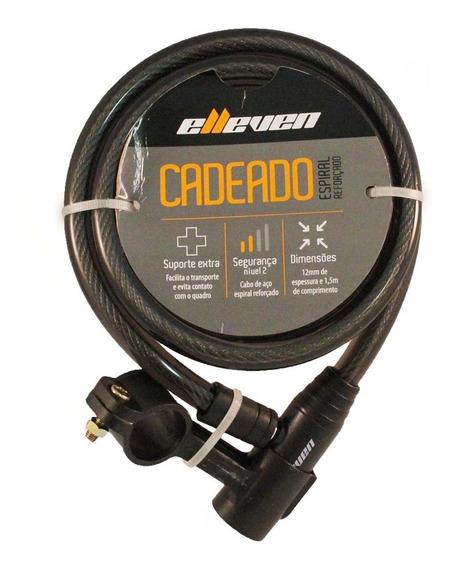 Cadeado Elleven Cabo Aço 1,5mt X 12mm P/ Bike Moto Chaves