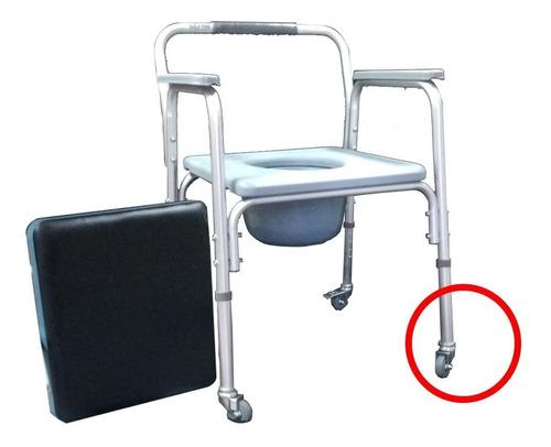 Imagen 1 de 8 de Inodoro Ortopedico-altura Regulable-aluminio-con Ruedas-