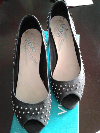 Zapatos Dama Marca Viamo Nro 38 Negro