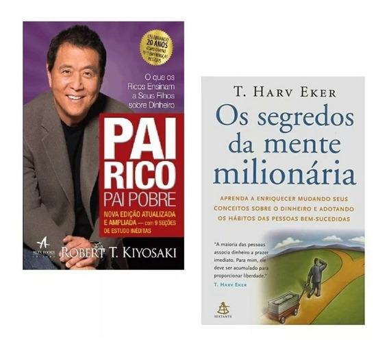 Livros - Pai Rico Pai Pobre E Os Segredos Da Mente Milionári