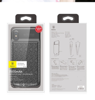 Capa Carregadora Powebank Baseus 3.500 Mah iPhone X Original