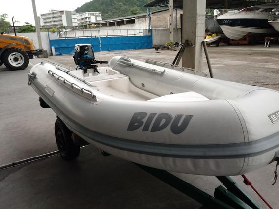 Barco Flexboat Sr 12 Lx 2014 Com Motor Mercury Sea Pro 25hp