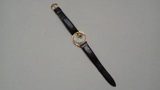 Reloj Lorus V53l 7a00 By Seiko Dorado Hombre Malla De Cuero