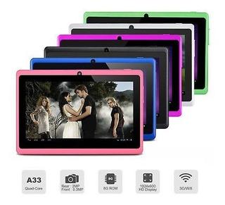 Tablet De 7 Quad Core 1 Gb De Ram, 8 Gb De Memoria Interna