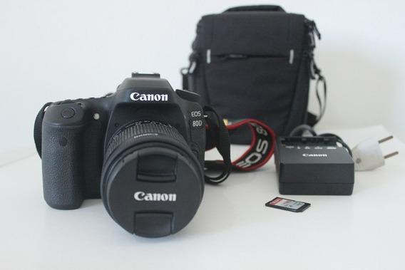 Vendo Kit Canon 80d Lente 18-55mm