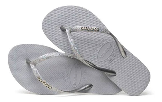 Havaianas Slin Glitter Original As Legitimas Chinelo