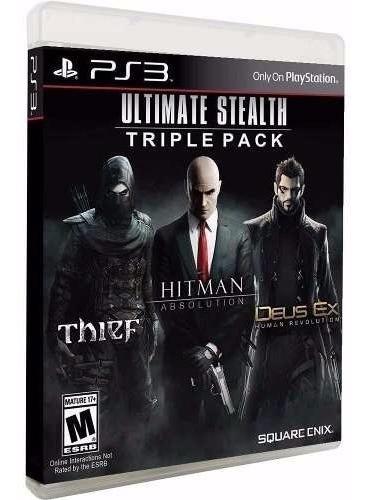 Hitman Absolution + Thief + Deus Ex Midia Fisica Lacrado Ps3