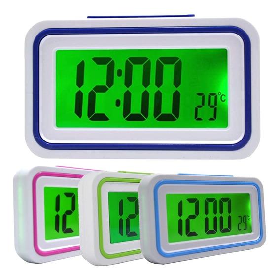 Relógio Despertador Mesa Idoso Deficiente Visual Fala Hora
