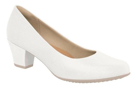 Sapato Piccadilly Social Liso (110072) - Branco - Feminino