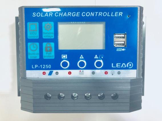 Controlador De Carga 50a 12v/24v Regulador Sistema Solar Lp