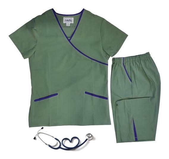 Ambo Estilizado Talle Xs Suedy Color Medicina Algodón Unifor