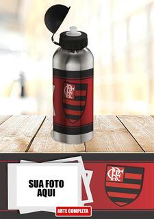 Garrafa Flamengo Time De Futebol Com Foto Promoção