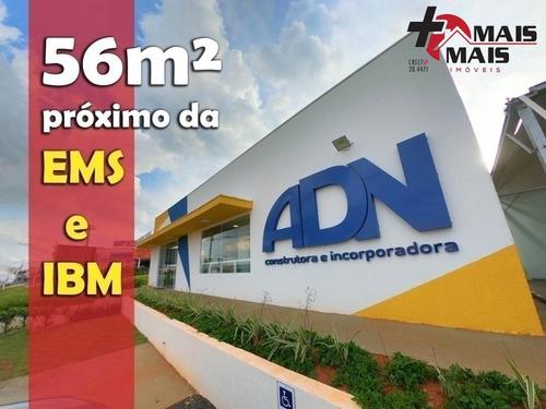 Imagem 1 de 15 de Adn Parque Das Hortênsias, Atrás Do Good Bom, Prox. Ems E Ibm 56m² - Adn56b