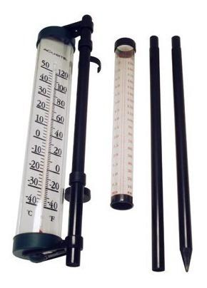 Pluviometro 4 C Termometro Mercado Libre Se usa para medir la cantidad de precipitaciones caídas en un lugar durante un tiempo determinado. pluviometro 4 c termometro