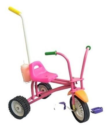 Triciclo Infantil A Pedal Reforzado Manija Bicicleta