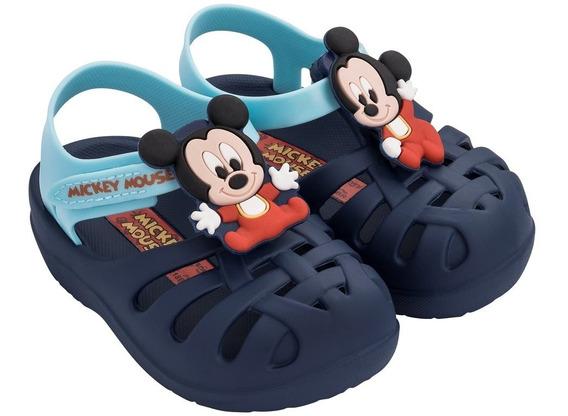 Sandália Grendene Disney Mickey Mouse Azul